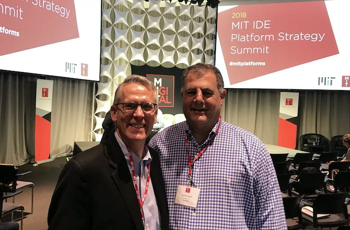 Geoff Parker, author of Platform Revolution and MIT IDE research fellow and Ray August, Benefitfocus President and CEO